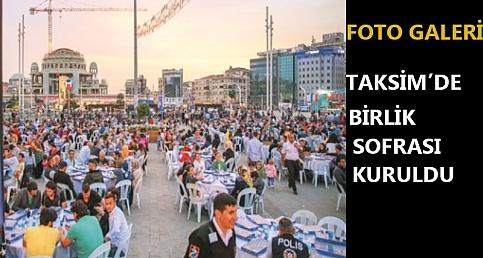 Taksim'e Birlik Sofrası kuruldu