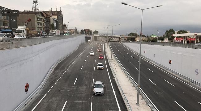 Anibal Kavşağında istanbul istikametine trafik verildi