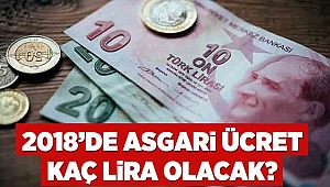 2018'de asgari ücret kaç lira olacak?