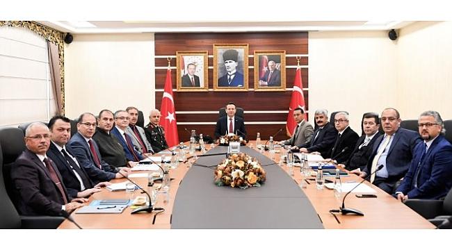 Asayiş toplantısı, Vali Aksoy başkanlığında gerçekleşti!