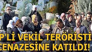 HDP'li vekil terörist cenazesine katıldı