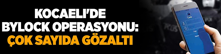 Kocaeli'de ByLock operasyonu: Çok sayıda gözaltı