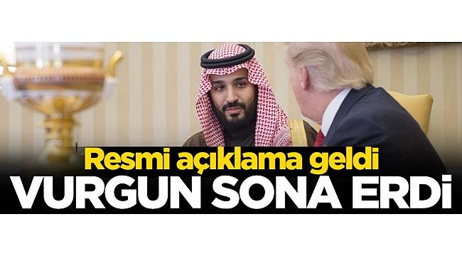 Suudi Arabistan'dan resmi açıklama! Sona erdi...