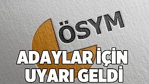 YDUS adaylarına sınav saati uyarısı