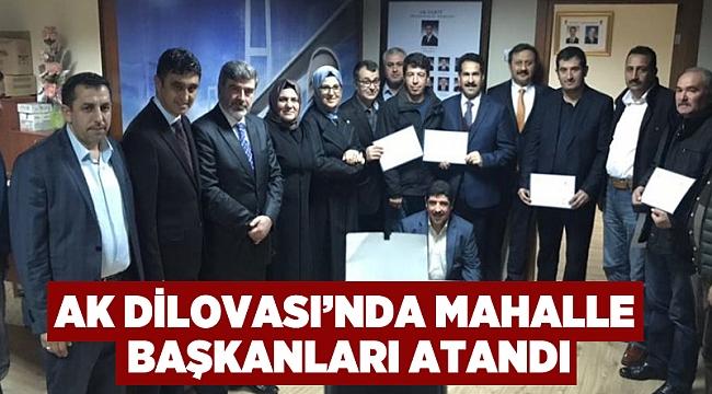 AK Dilovası'nda mahalle başkanları atandı