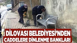 Dilovası Belediyesi'nden caddelere dinlenme bankları