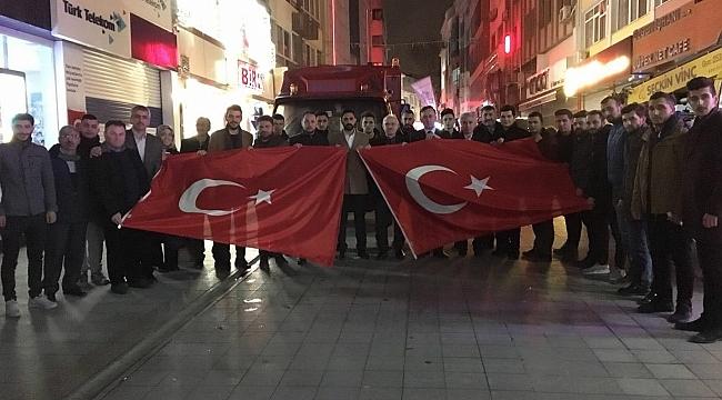 Gebze sokakları Türk bayraklarıyla donatıldı
