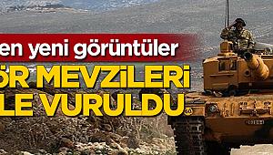 Türk tankları terör hedeflerini böyle vurdu