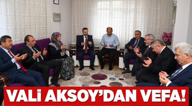 Vali Aksoy'dan vefa!