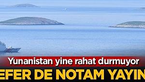 Yunanistan rahat durmuyor! NOTAM yayınladı