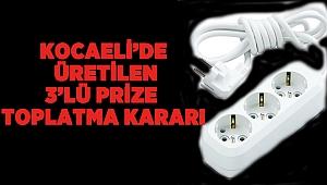 Kocaeli'de üretilen 3'lü prize toplatma kara