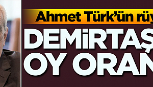 Ahmet Türk'ün rüyası: Demirtaş'ın oy oranı…