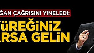 Cumhurbaşkanı Erdoğan çağrısını yineledi: Yüreğiniz varsa gelin