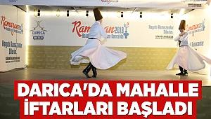 Darıca'da mahalle iftarları başladı