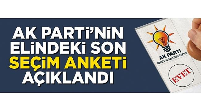 Mahir Ünal AK Parti'nin elindeki son seçim anketini açıkladı