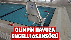 Olimpik Havuza Engelli Asansörü
