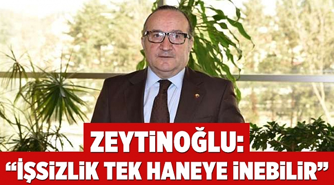 """Zeytinoğlu: """"İşsizlik tek haneye inebilir"""""""