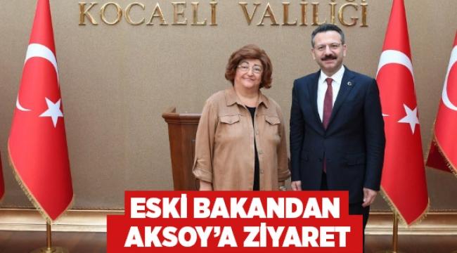 Eski bakandan Aksoy'a ziyaret