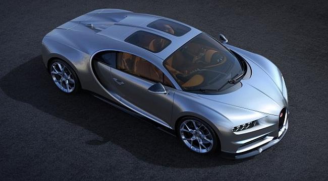 Bugatti Chiron'a cam tavan