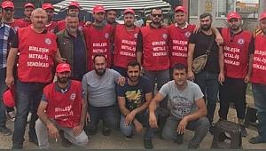 20 işçi işten çıkarıldı! işçiler, fabrika  önünde direnişe başladı
