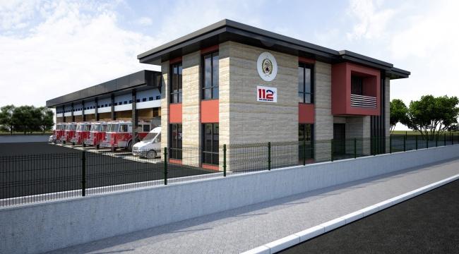 İtfaiye Terminal Müfreze binası şekilleniyor