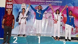 Taekwondocu Minikler Türkiye Şampiyonasında kürsüye çıktı