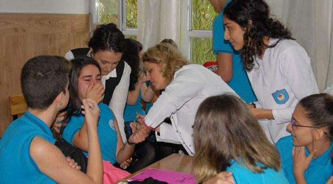382 öğrenciye karma aşı yapıldı