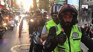 Motosikletlerini Cumhuriyet için sürdüler