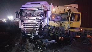 Gebze'de iki TIR ile 1 otomobil çarpıştı! 1 ölü 2 yaralı