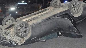Gebze'de kaza yaptığı aracını bırakıp kaçtı!