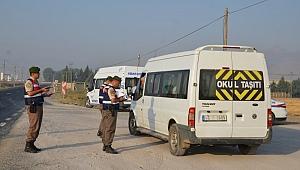 6 servis aracı trafikten men edildi