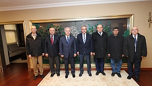 Cem Vakfı Başkanı Döner Başkan Köker'i ziyaret etti