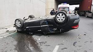 Gebze'de otomobil köprüden uçtu!