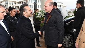 İçişleri Bakanı Soylu, Vali Aksoy'u ziyaret etti