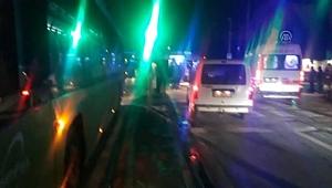 Yaralıya Müdahale Eden Ambulansa Halk Otobüsü Çarptı