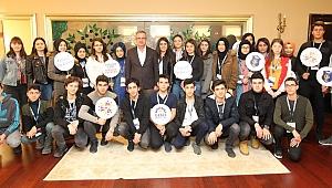 41 Genç, Başkan Köşker'e geldi