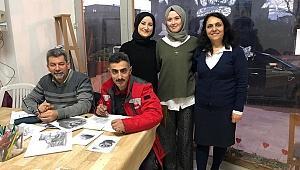 Darıca'daki resim kursunda eğitimler sürüyor