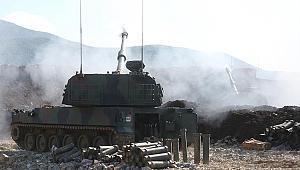 TSK, teröristleri obüslerle vurdu