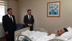 Vali Aksoy ve Kaymakam Güler'den şehidimizin babasına ziyaret