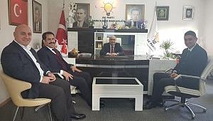 Yaman ve Akbulut'tan ilçe başkanlarına ziyaret