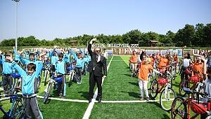 2018 yılında 5 bin 100 bisiklet dağıtıldı