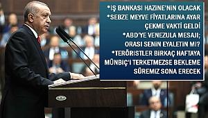 Erdoğan: Sebze meyve fiyatlarına ayar çekme vakti geldi
