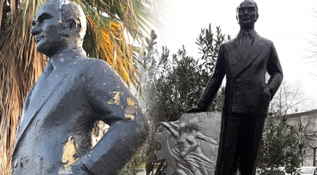 Fuardaki Atatürk heykeli güzel oldu