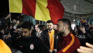 Galatasaray kafilesi Hatay'da coşkuyla karşılandı