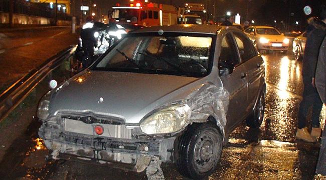 Gebze'de zincirleme kaza: 1 yaralı