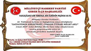 MHP Gebze'den 50. yıl programı
