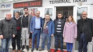 Serap Çakır, terminal esnafını dolaştı
