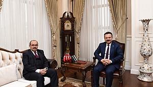 Trabzon Valisi Ustaoğlu'dan Aksoy'a ziyaret