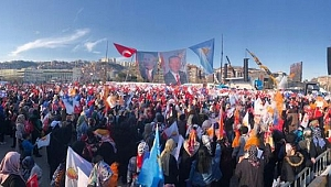 Erdoğan alana giriş yaptı!