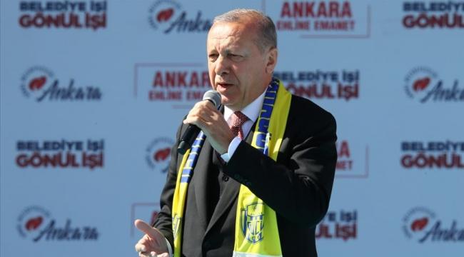 Erdoğan: Bu seçim milli irade yüzsüzleri için yolun sonu olacaktır